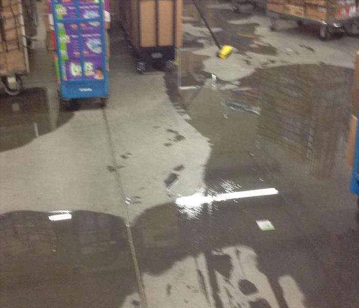 Commercial Water Damage in Lexington, Sc.  Before