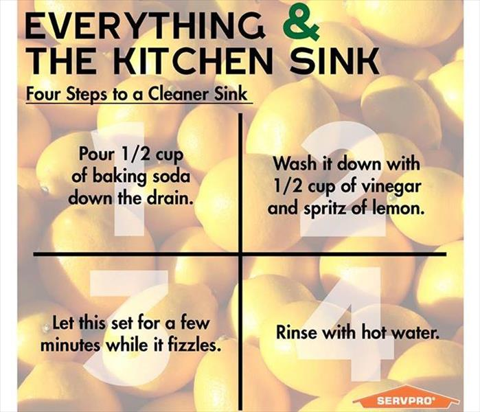 Cleaning When life gives you lemons, CLEAN YOUR SINK!